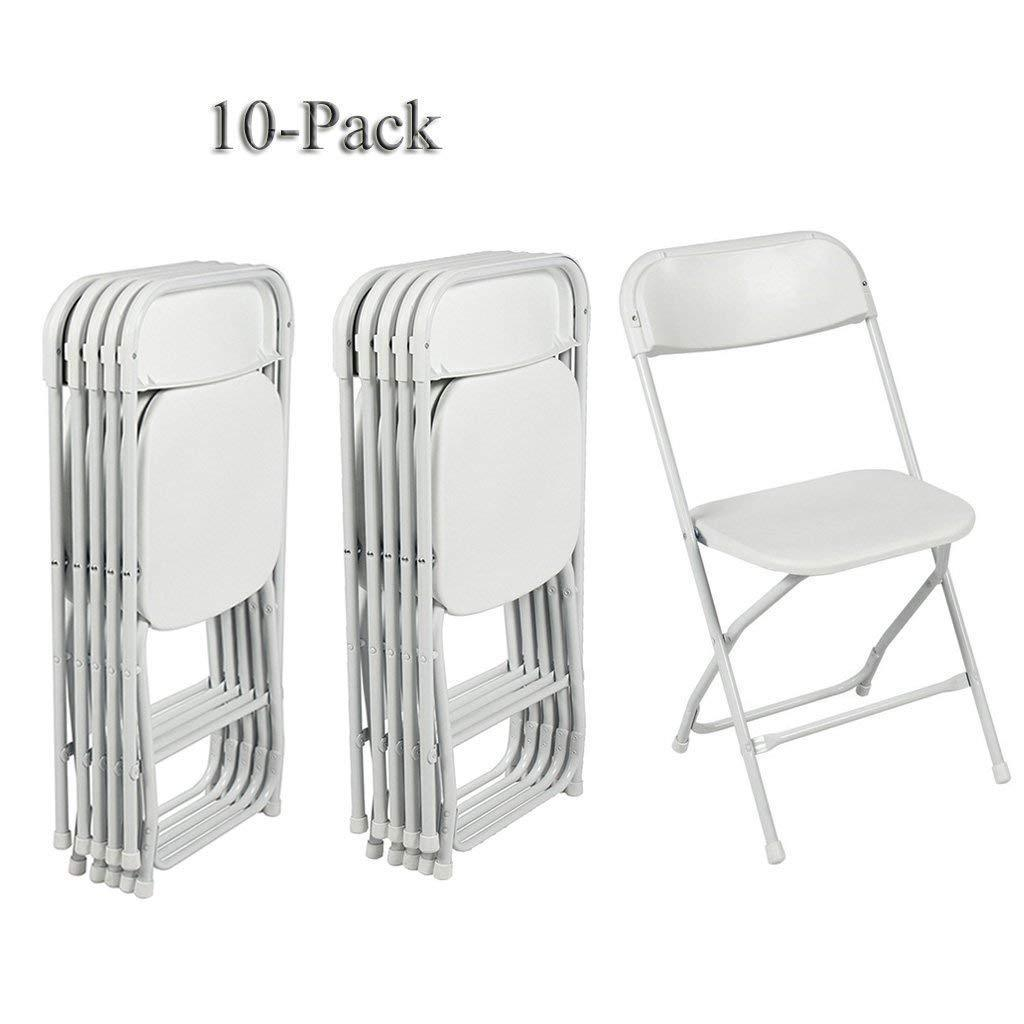 Stackable Folding Chairs Zimtown 10 Pack Commercial Wedding Quality Stackable