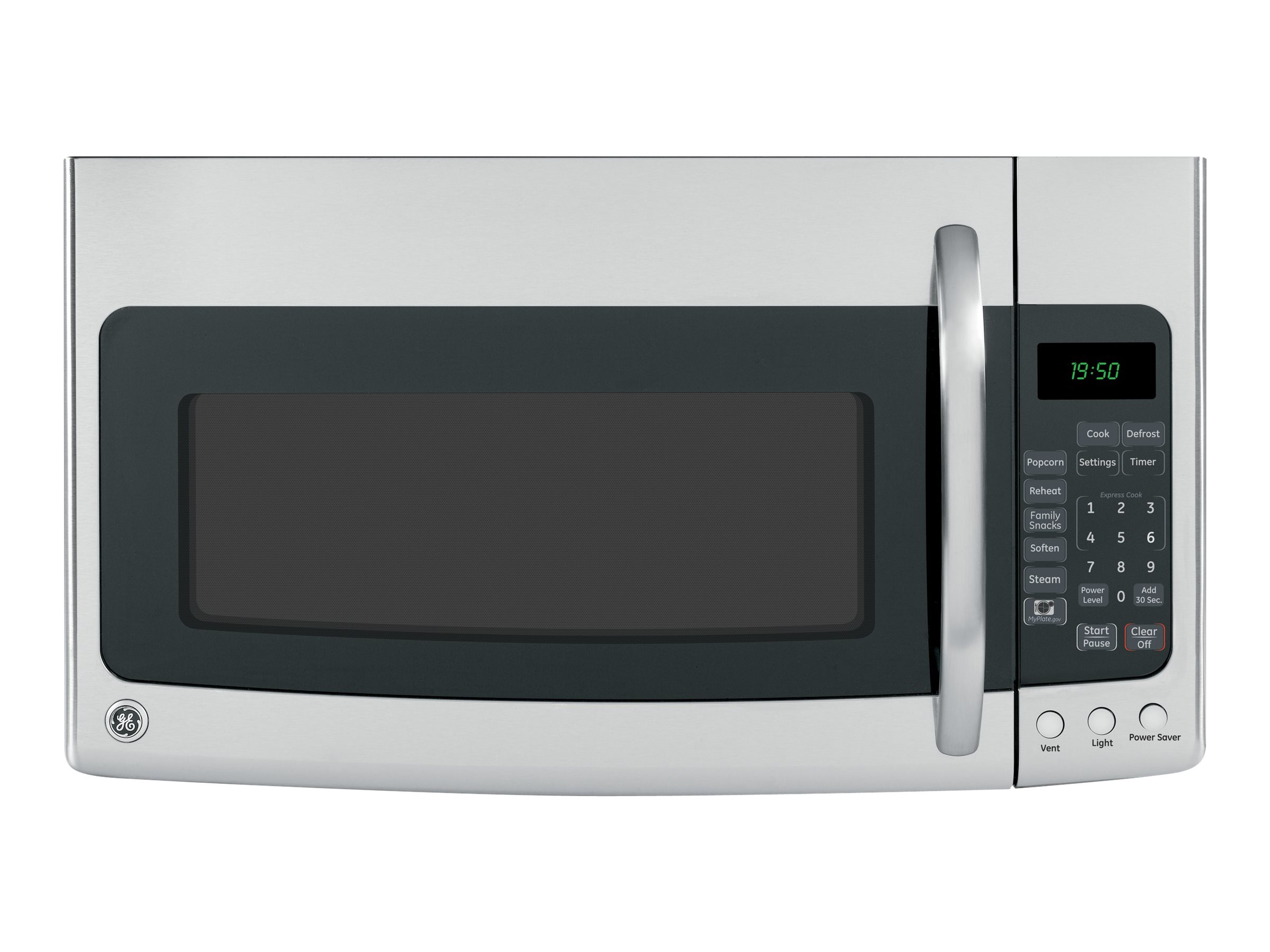 ge spacemaker jvm1950srss microwave oven over range 1 9 cu ft 1000 w stainless steel with built in exhaust system