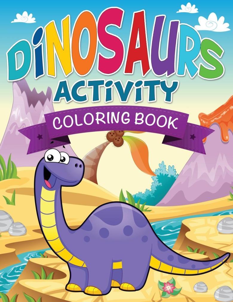 dinosaurs activity coloring book - walmart