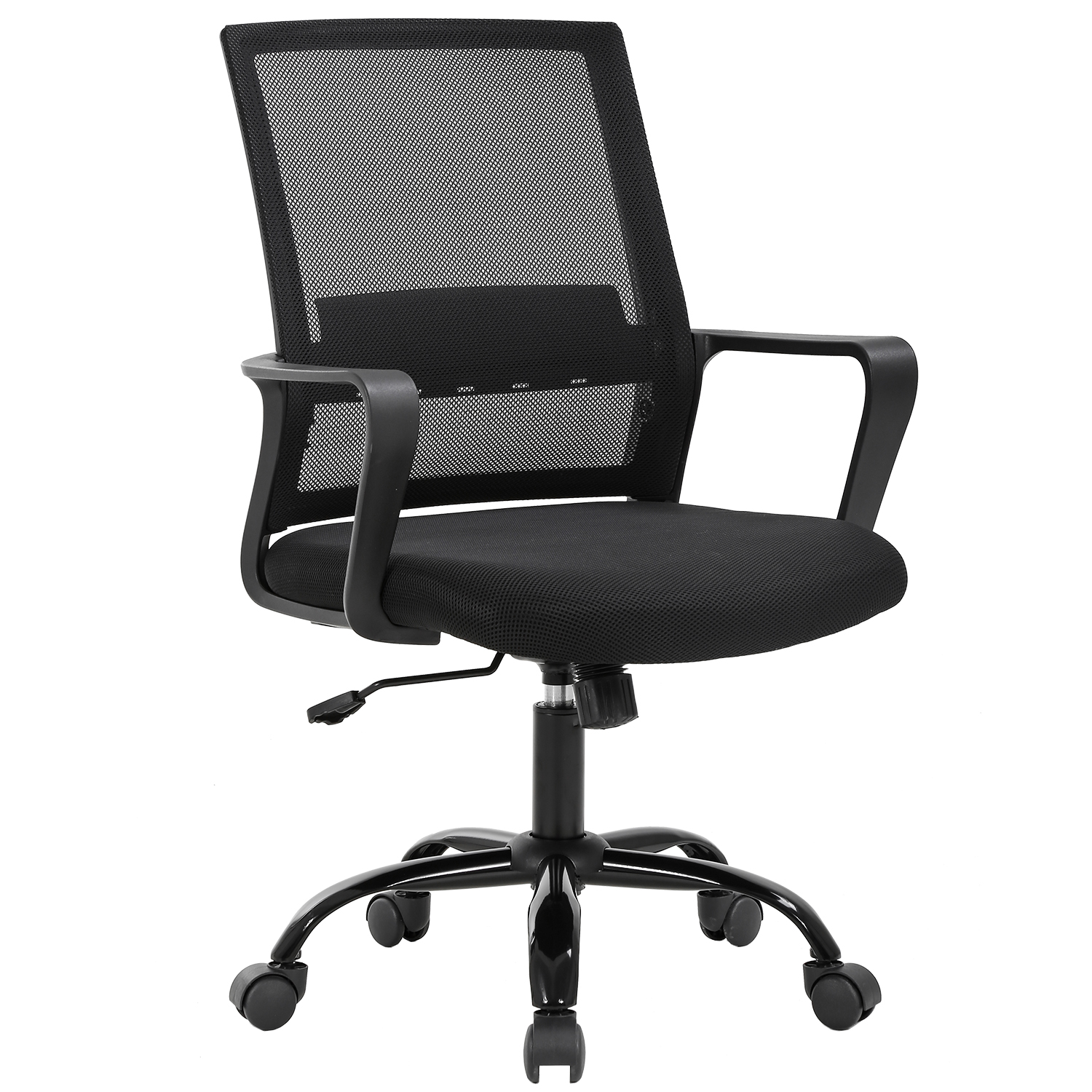 Home Office Chair Ergonomic Cheap Desk Chair Swivel Rolling Computer Chair Executive Lumbar Support Task Mesh Chair Adjustable Stool For Women Men Black Walmart Com Walmart Com