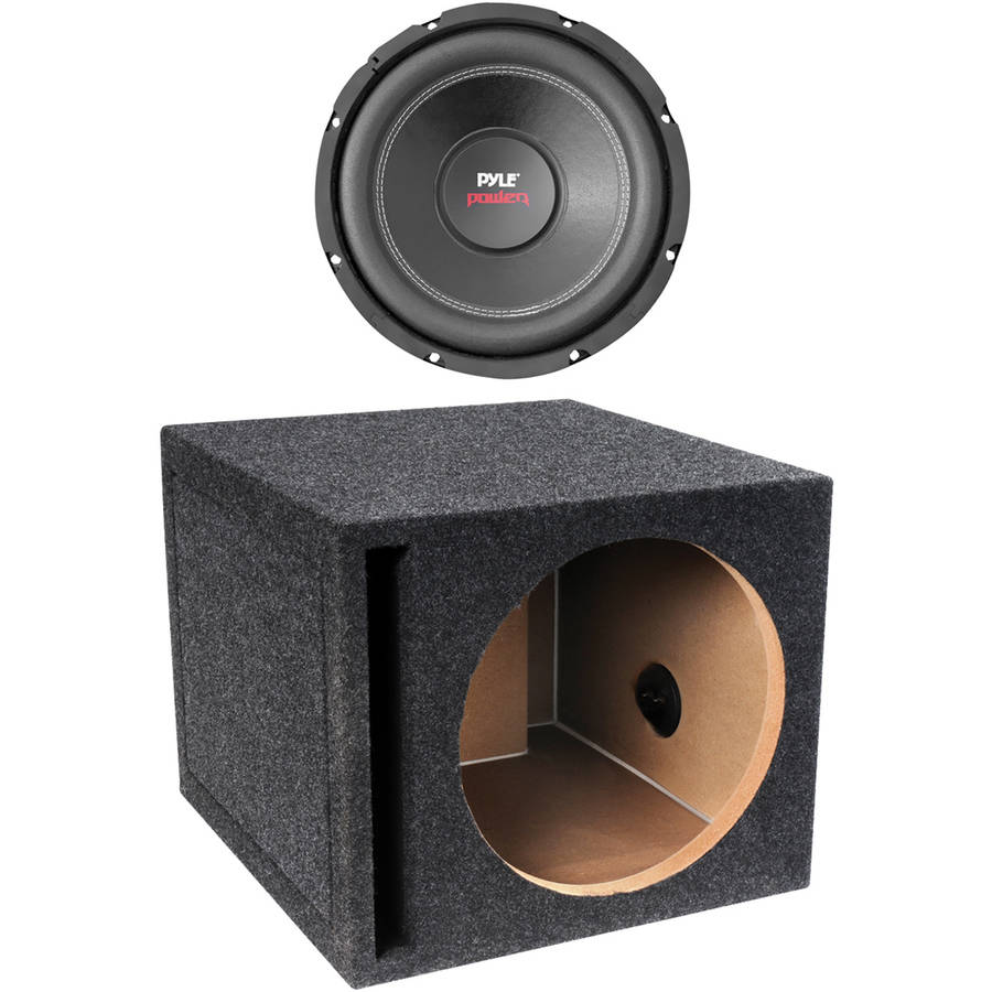 dual voice coil subwoofer box bird life cycle diagram pyle plpw12d power series 4 ohm 12 1 600 watts and qbox 12s01v single vented enclosure walmart com
