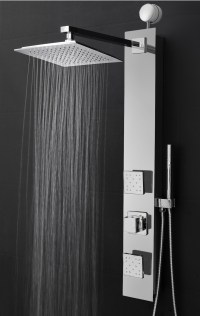 "AKDY 35"" Easy Connect Tempered Glass Shower Tower Panel ..."