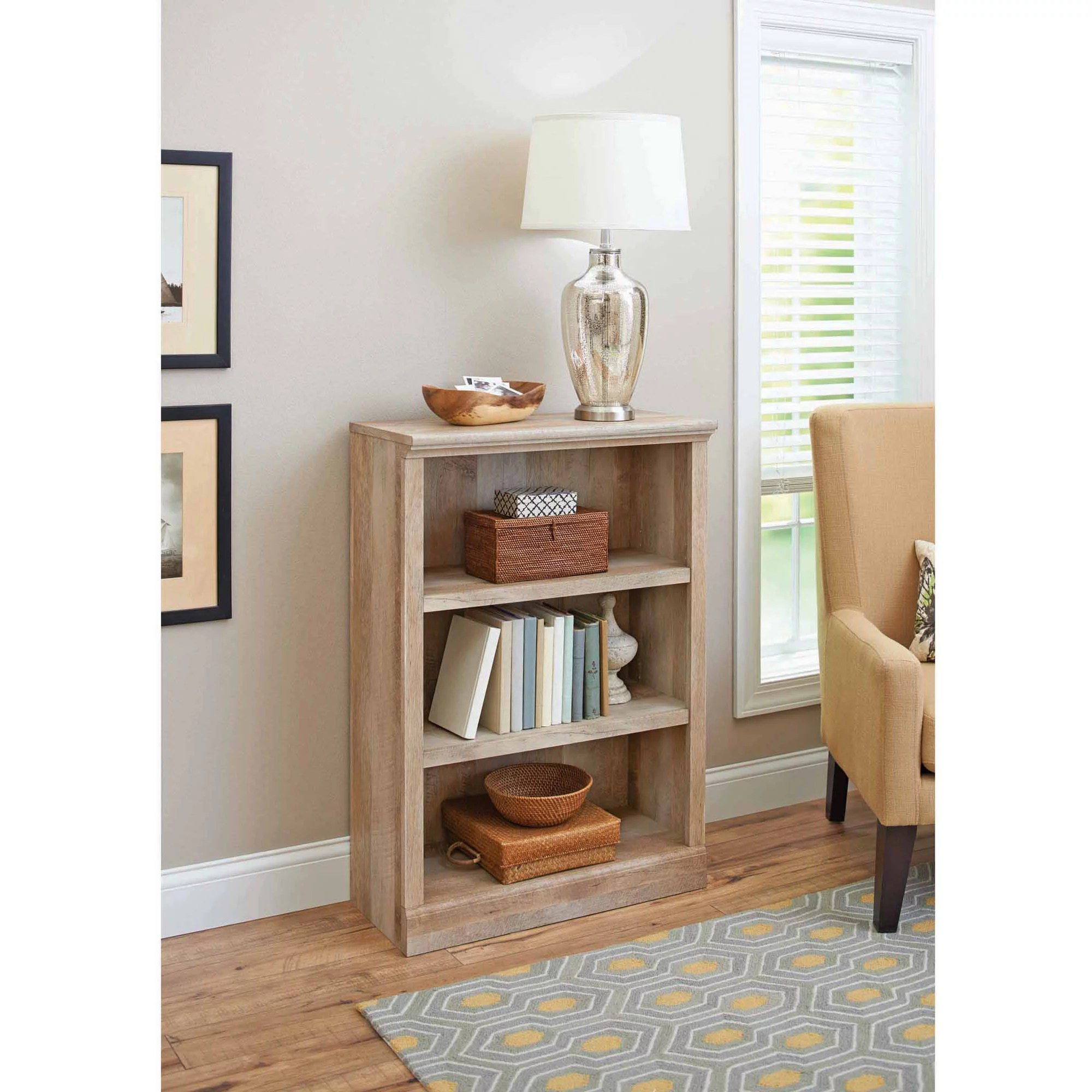 Better Homes And Gardens Crossmill Collection 3 Shelf Bookcase Multiple Finishes Walmart Com