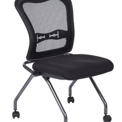 Folding Chair With Wheels Low Back Dining Chairs Office Star Deluxe Progrid Armless Nesting Guest