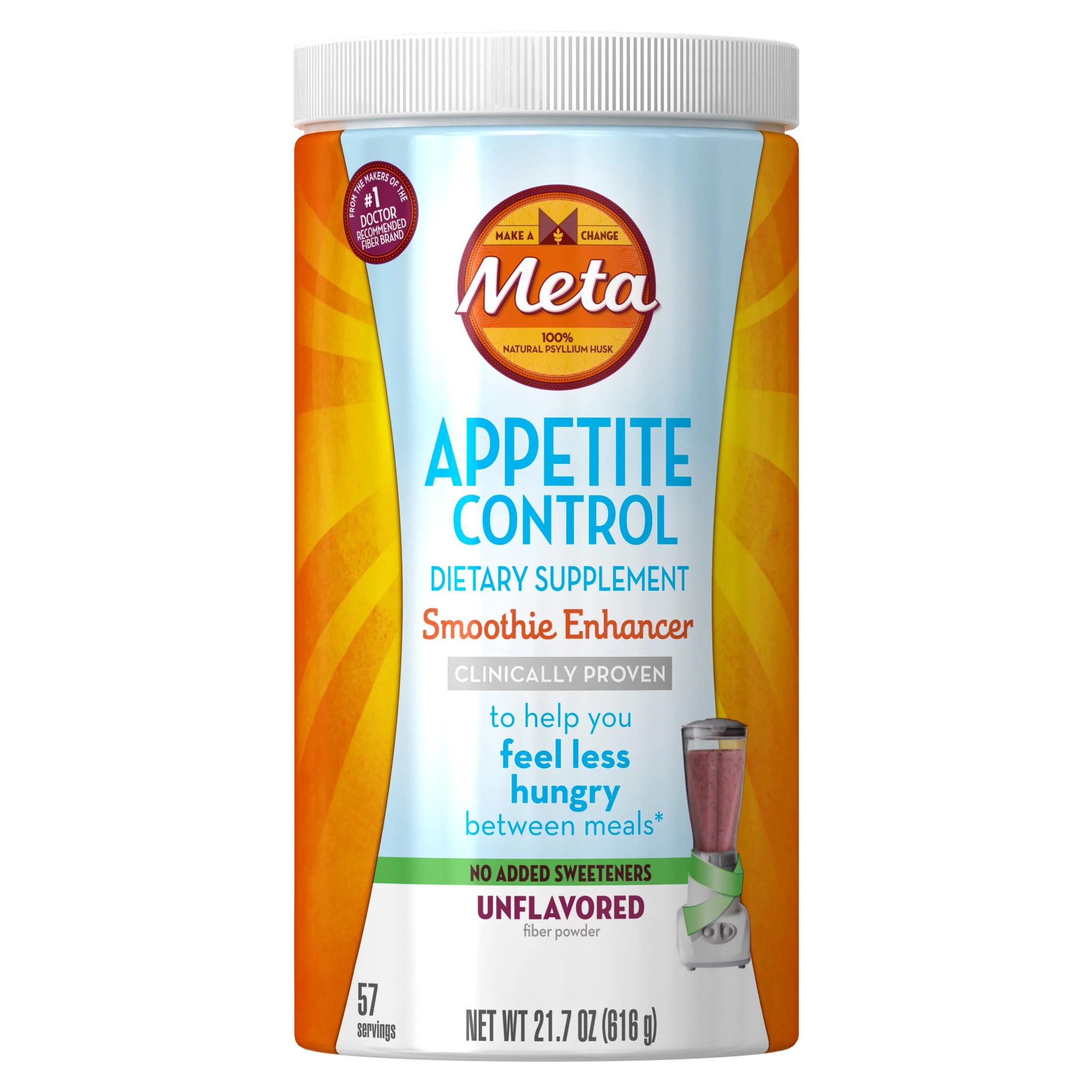 Metamucil Appetite Control Psyllium Fiber Supplement ...