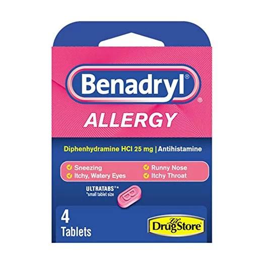 2 Pack Benadryl Ultratab Antihistamine Allergy Medicine 4 ...