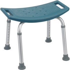 Drive Shower Chair Without Back Cross Dining Chairs White Medical Deluxe K. D. Aluminum Retail Bath Bench Back, Tool Free Assembly, Teal - 1 ...
