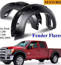 4pc car pocket rivet style side fender wheel flares for ford f 250 f 350 2011 2016 walmart com [ 1200 x 1200 Pixel ]