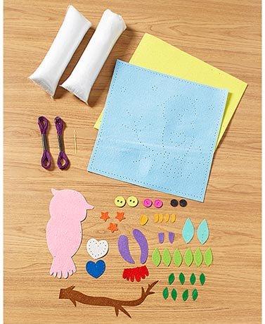 Make Your Own Patchwork Pillow KitsOwls  Walmartcom