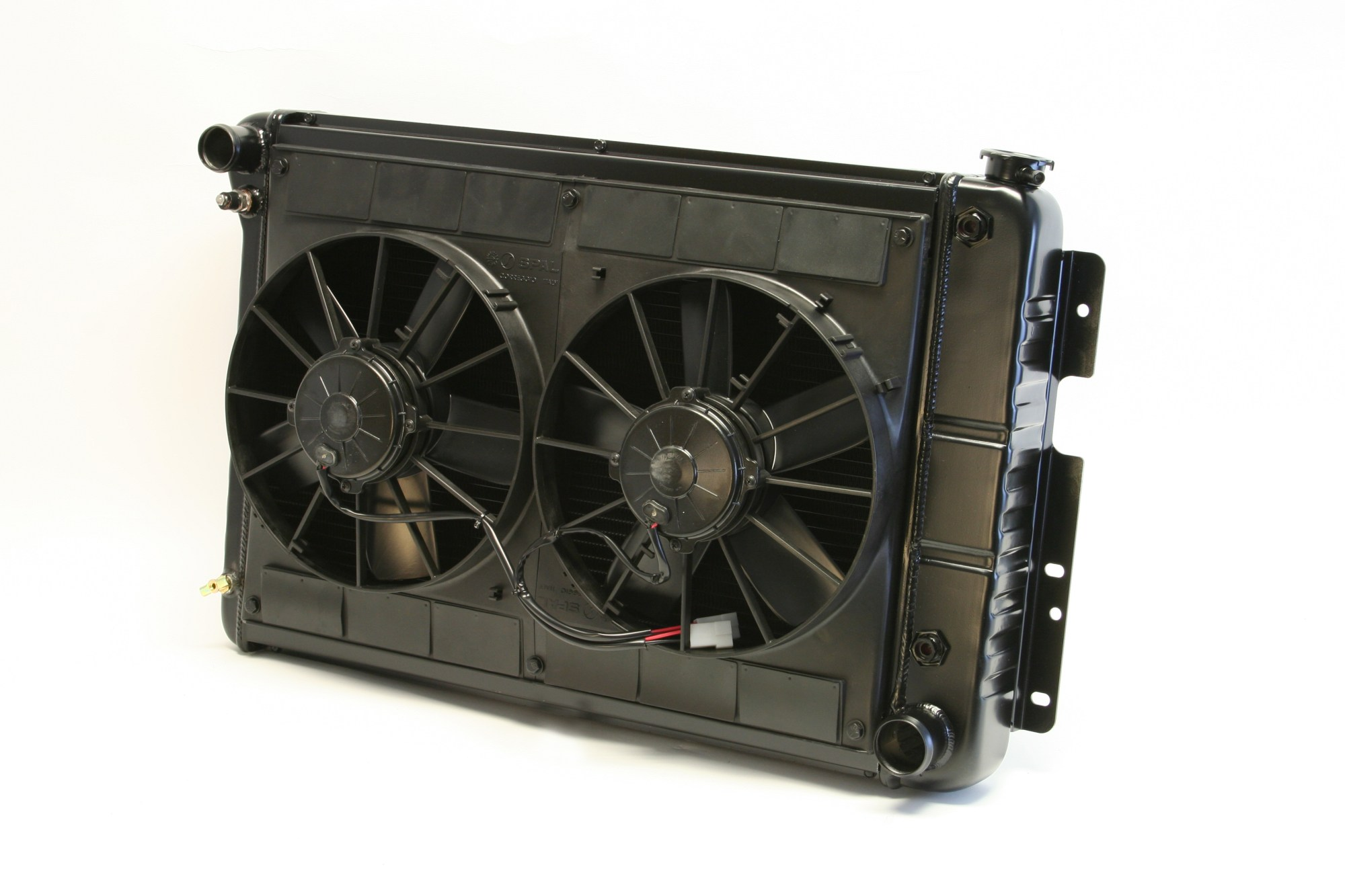 hight resolution of dewitts for 1967 69 camaro bb 23 5 core cf auto dual 11 spal fans wiring radiator walmart com