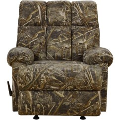 Camo Recliner Chair Land Of Nod Baby Doll High Rocker Rustic Camouflage Man Cave Cabin Furniture Hunter New Ebay