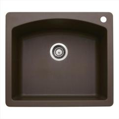 Brown Kitchen Sink Cabinet Design Online Diamond Single Bowl Silgranit Ii Drop In Cafe