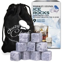 Whiskey Stones Ice Cube Rocks - Set Of 9 Reusable Whisky