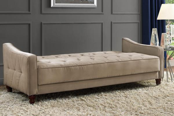 Novogratz Tufted Vintage Sofa Sleeper
