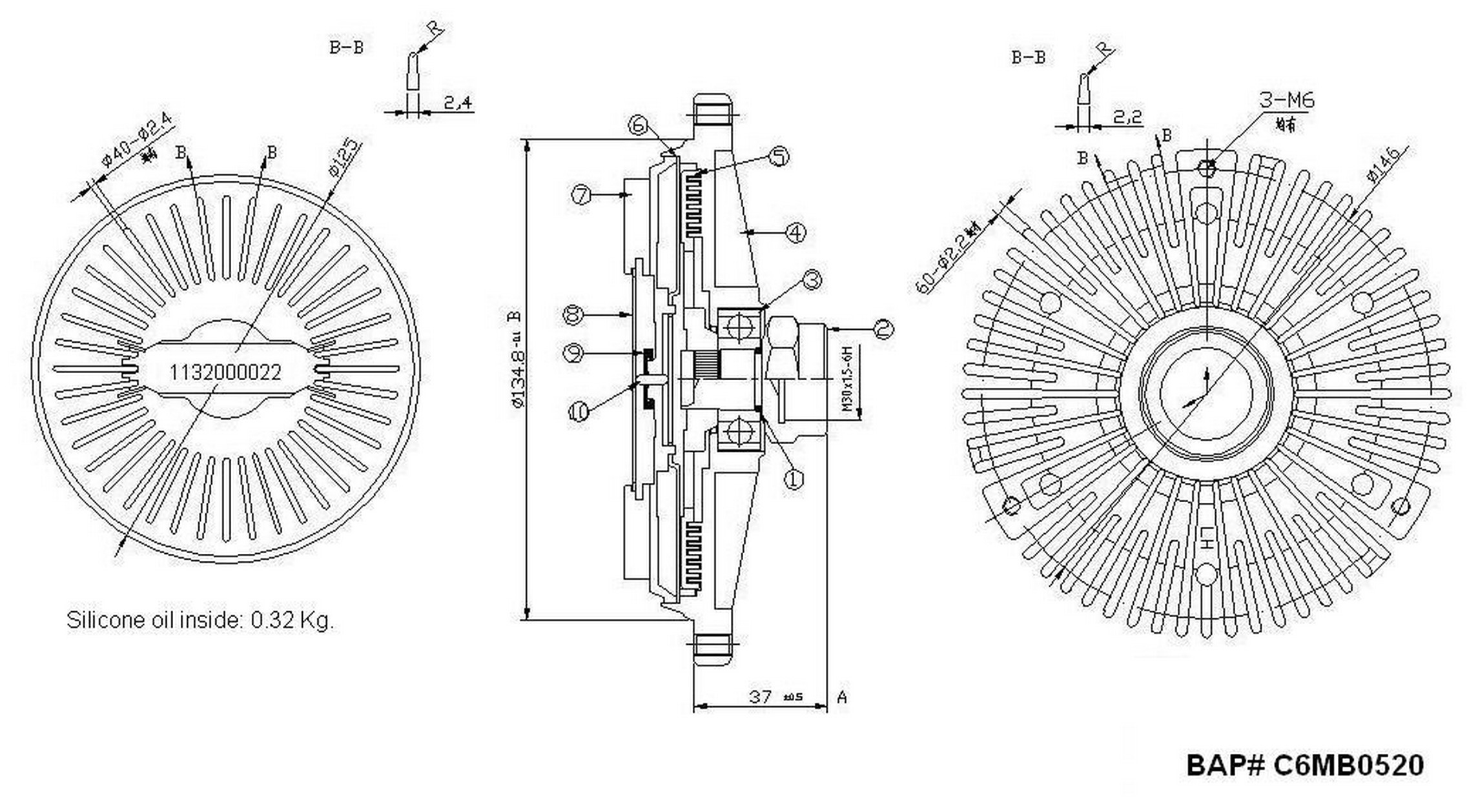 hella behr 376732531 engine cooling fan clutch for mercedes benz 1997 e420 amg e420 engine diagram [ 2272 x 1258 Pixel ]