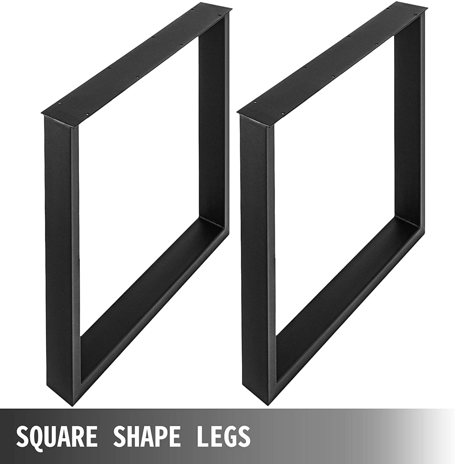 the set of 2 table legs 16 x 25 x 3 1 inch dining table legs black color metal table legs square frame industrial table legs