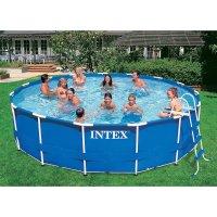 Intex 16 ft x 42 inch Metal Frame Pool Set - Walmart.com