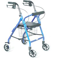 Rollator Walker With Padded Seat Basket 300 Lb Capacity