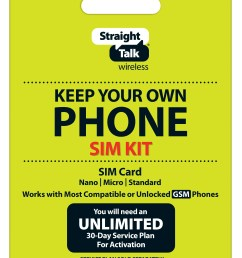 straight talk keep your own phone sim card kit at t gsm compatible devices walmart com [ 4792 x 6566 Pixel ]