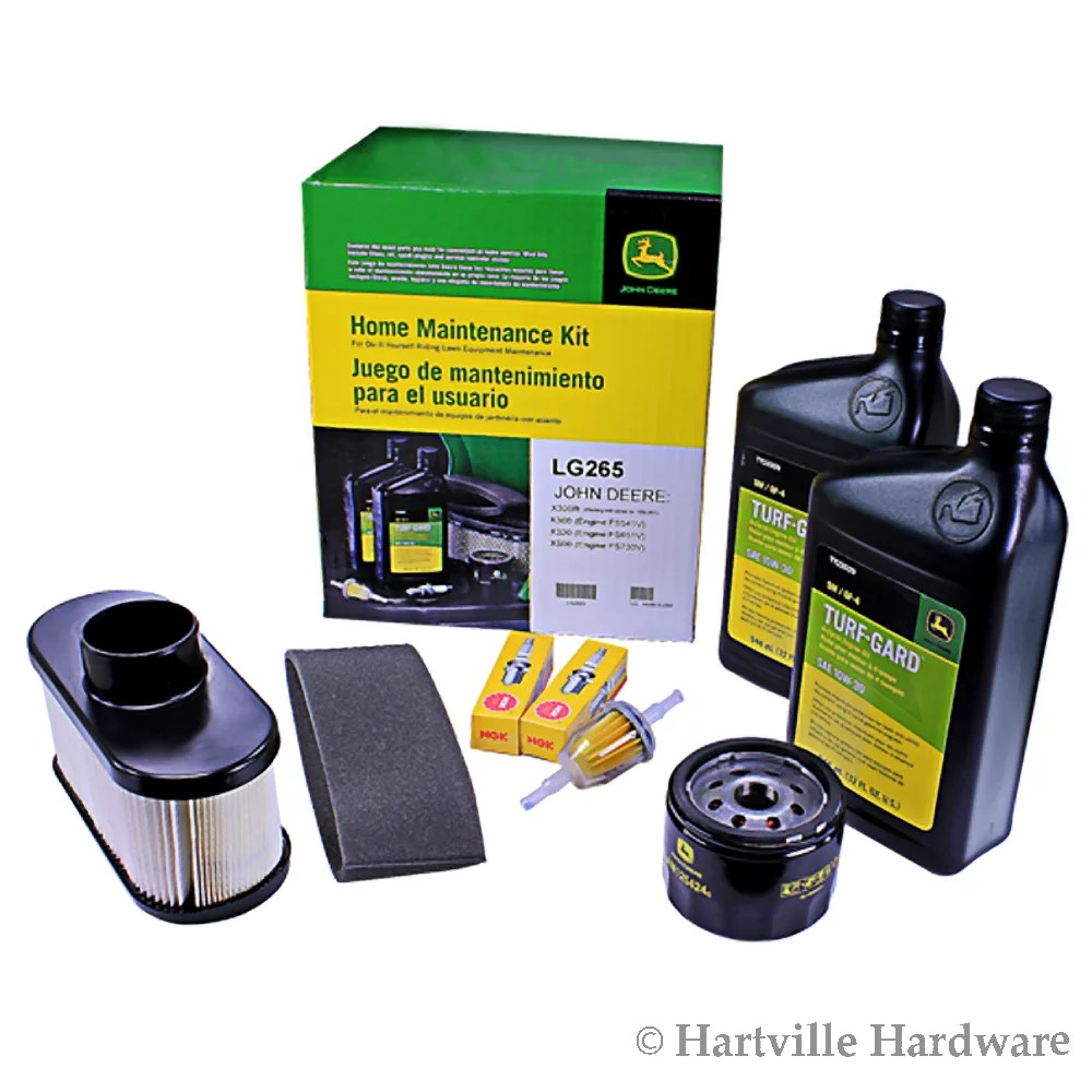 medium resolution of john deere lg265 home maintenance kit x300 x300r x320 x324 x360 x500 x530 walmart com