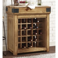 Kitchen Wine Rack Kraft Cabinets Crosley Roots Bistro Island With In Light Brown