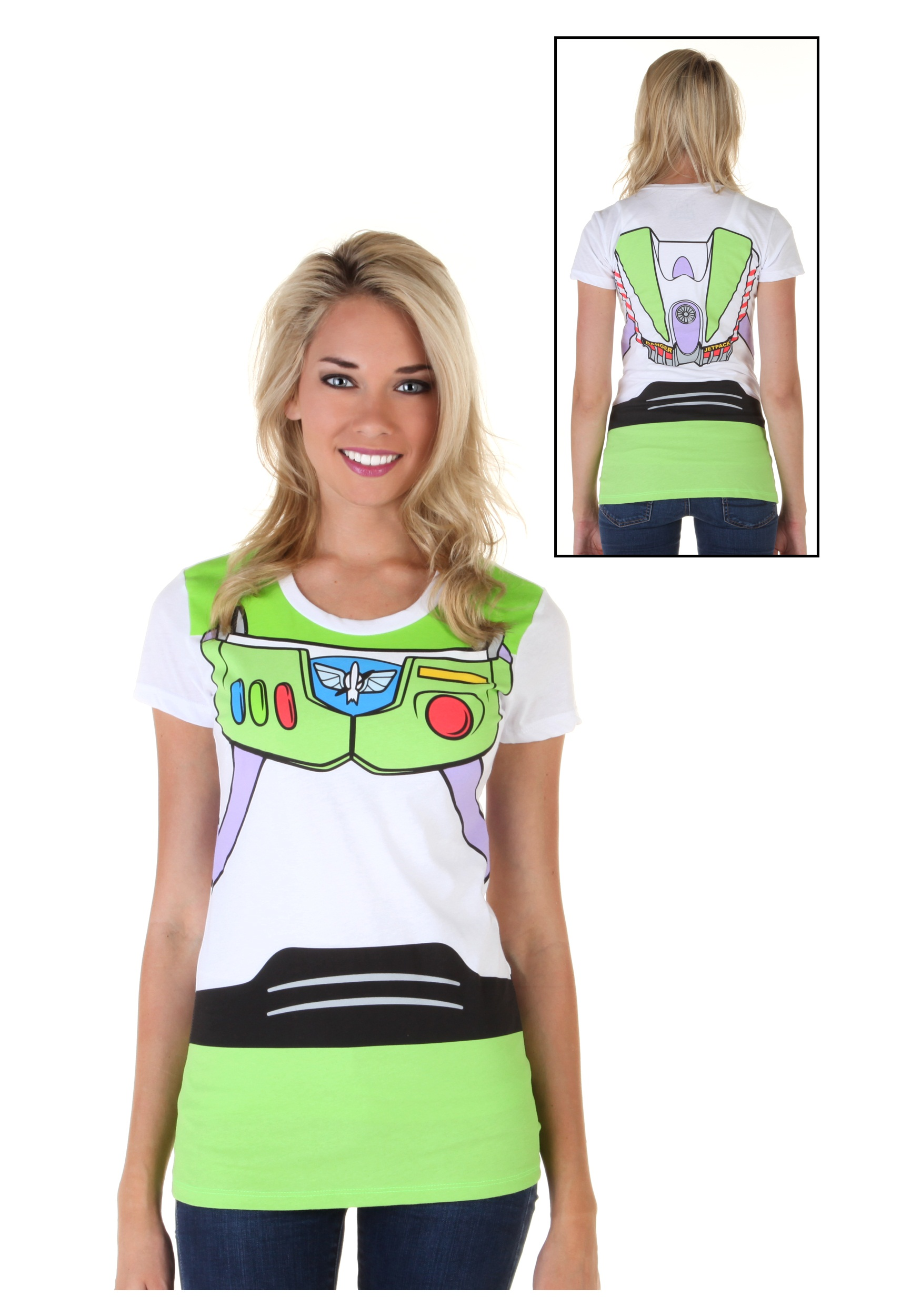 Women S Toy Story Buzz Lightyear Costume T Shirt