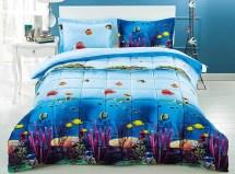 3 Piece 3d Comforter Set - Ocean Fish And Corals