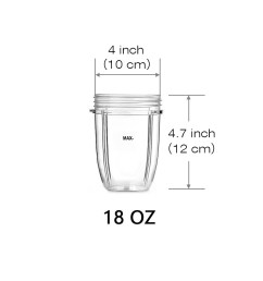 18oz 24oz replacement cup for nutribullet 600w 900w replacement parts replacement cups for nutri bullet walmart com [ 1000 x 1000 Pixel ]
