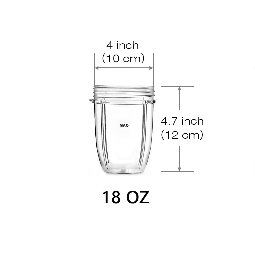 hight resolution of 18oz 24oz replacement cup for nutribullet 600w 900w replacement parts replacement cups for nutri bullet walmart com