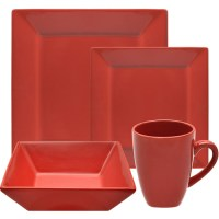 10 Strawberry Street Nova Square 16-Piece Dinnerware Set ...