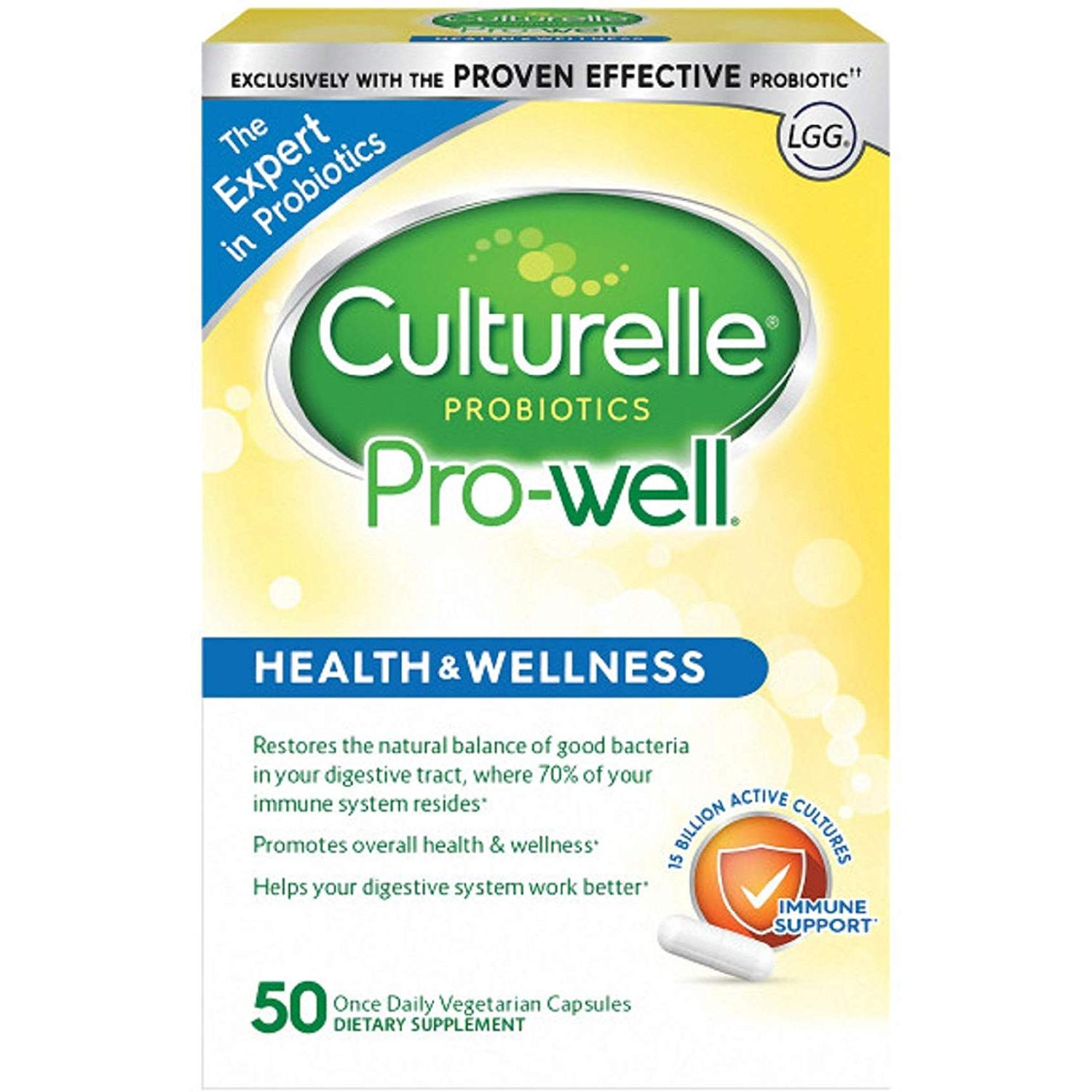 Culturelle Probiotic Pro-Well Health and Wellness - 50 ...