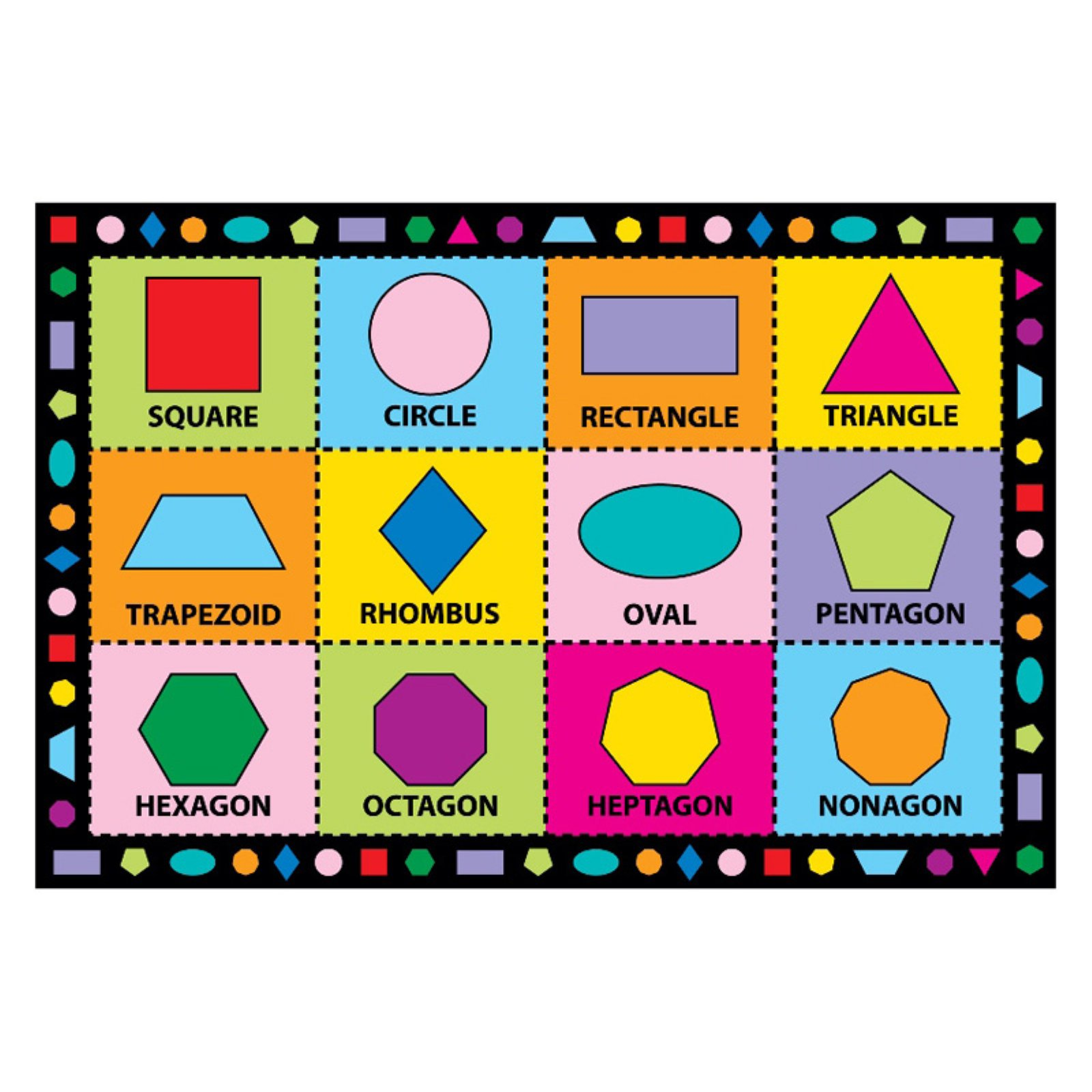 Fun Rugs Shapes Kids Rug Multi Color