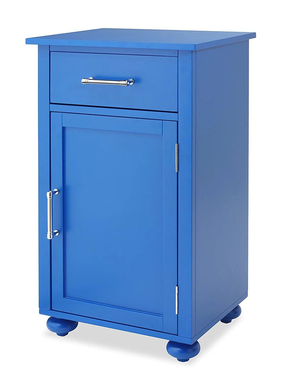Single Door Storage Cabinet Blue  Walmartcom
