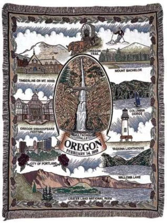 State of Oregon Tapestry Throw Blanket 50quot x 60quot Walmartcom