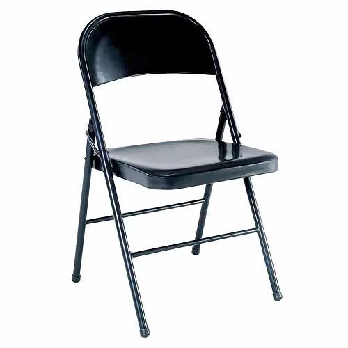 walmart fold out chair cover rentals belleville mainstays steel folding black com
