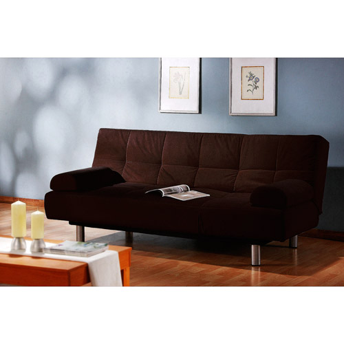 atherton home soho convertible futon sofa bed and lounger leather sleep manhattan ...