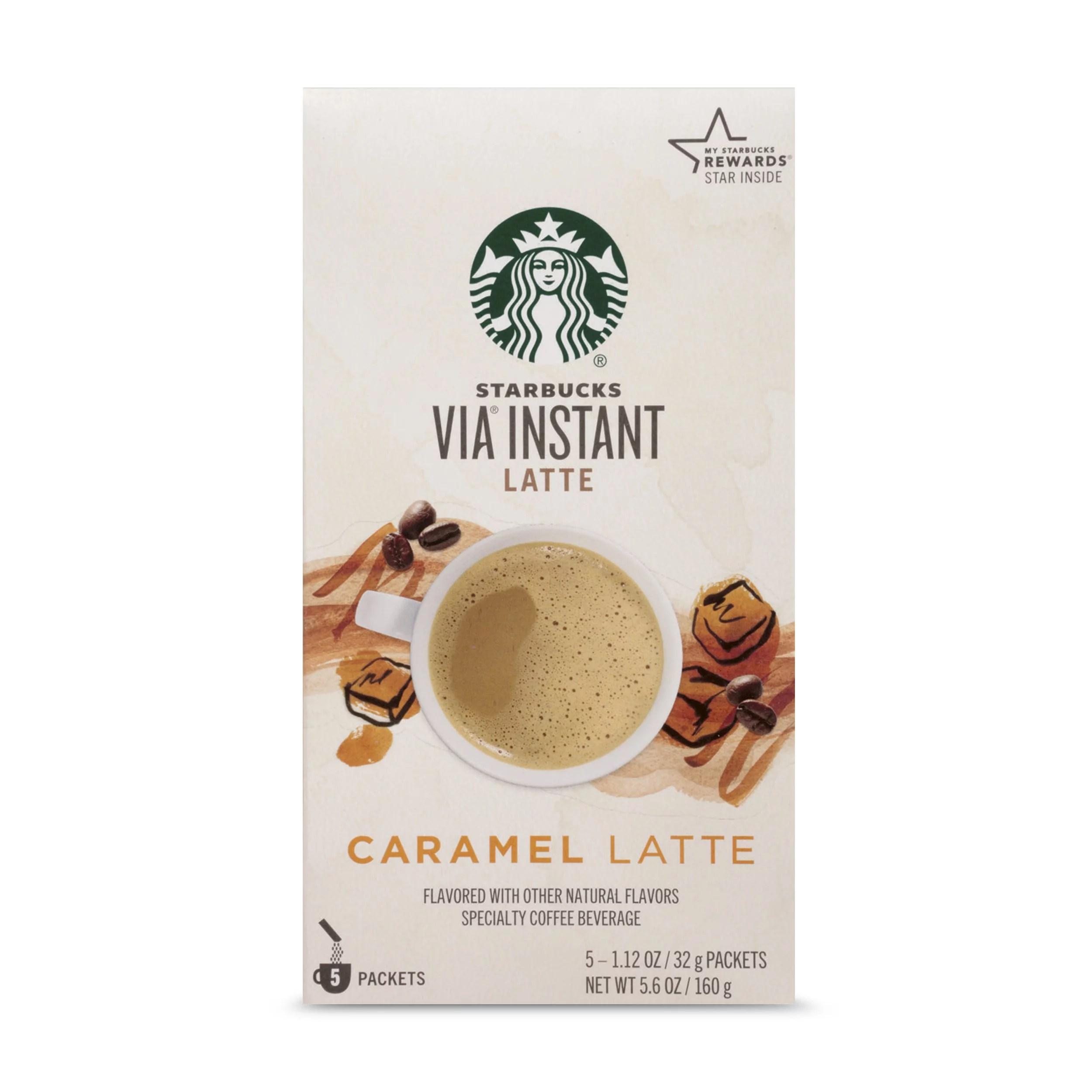 Starbucks VIA Instant Caramel Latte (1 box of 5 packets ...