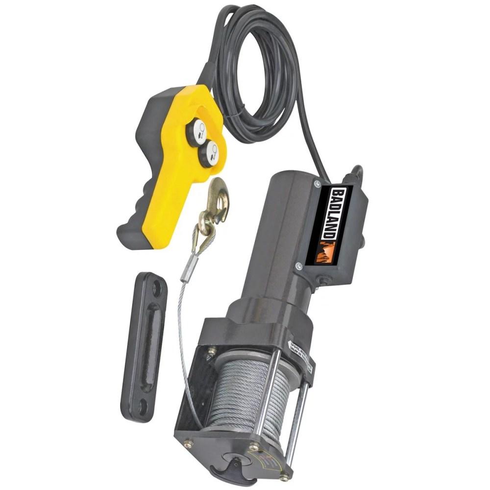 medium resolution of badland electric winch 1500 lb capacity 120 volt ac hoist control 96127 walmart com