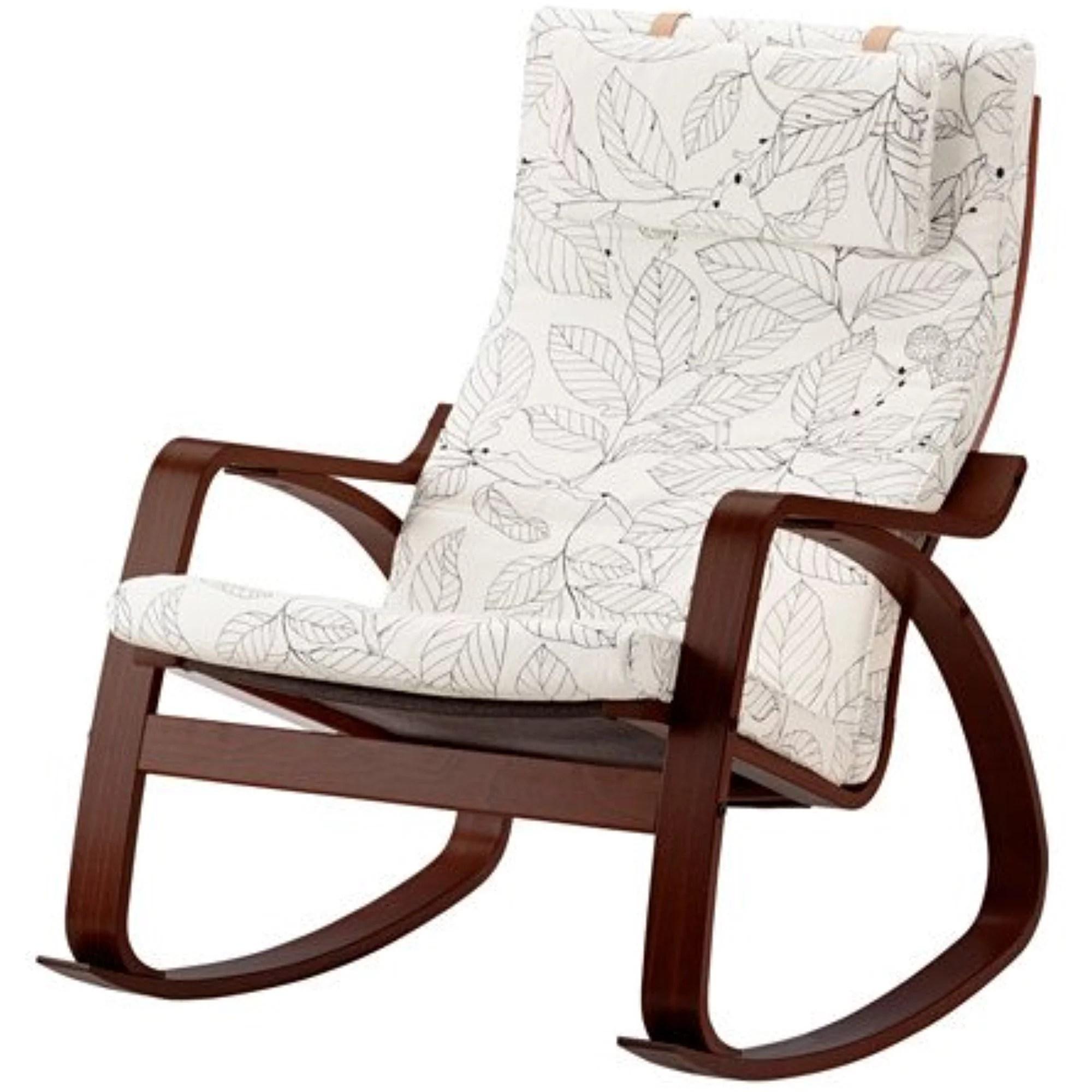 ikea rocking chairs best computer chair for back medium brown vislanda black white 20204 2658 306 walmart com