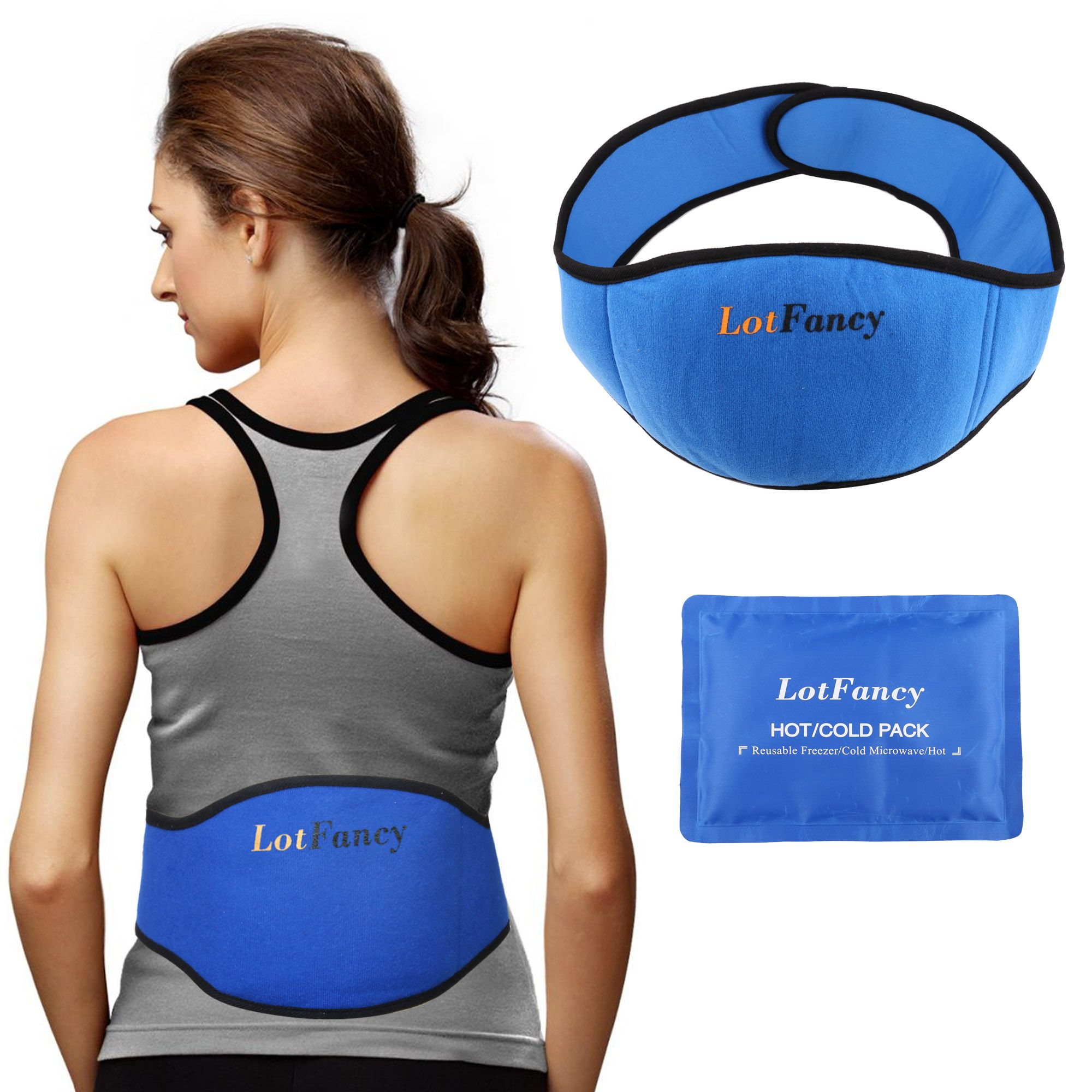 hot cold packs with wrap for waist microwavable reusable gel pack with hook and loop fastener wrap belt 8 x 5 5 inches walmart com