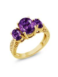 Gem Stone King - 2.56 Ct Oval Purple VS Amethyst 925 ...