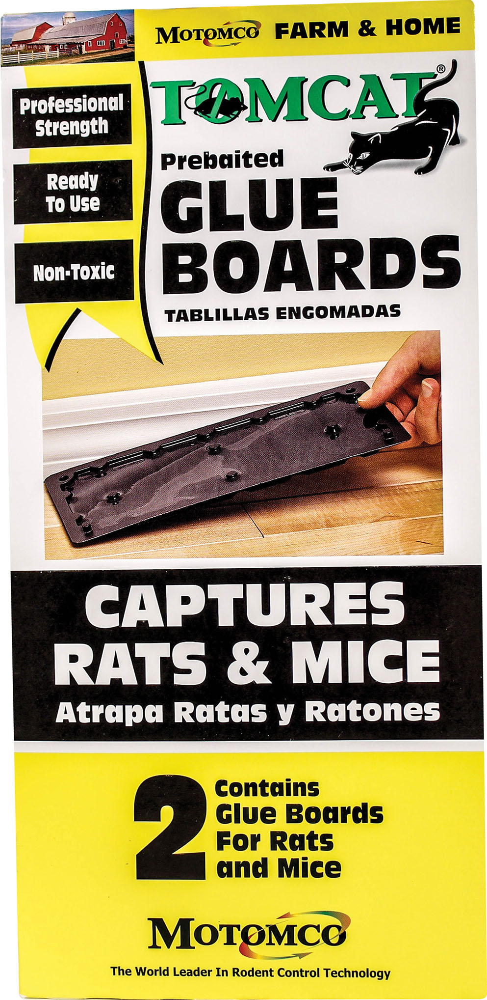 TOMCAT PREBAITED GLUE BOARDS RAT AND MOUSE TRAPS 12 CT