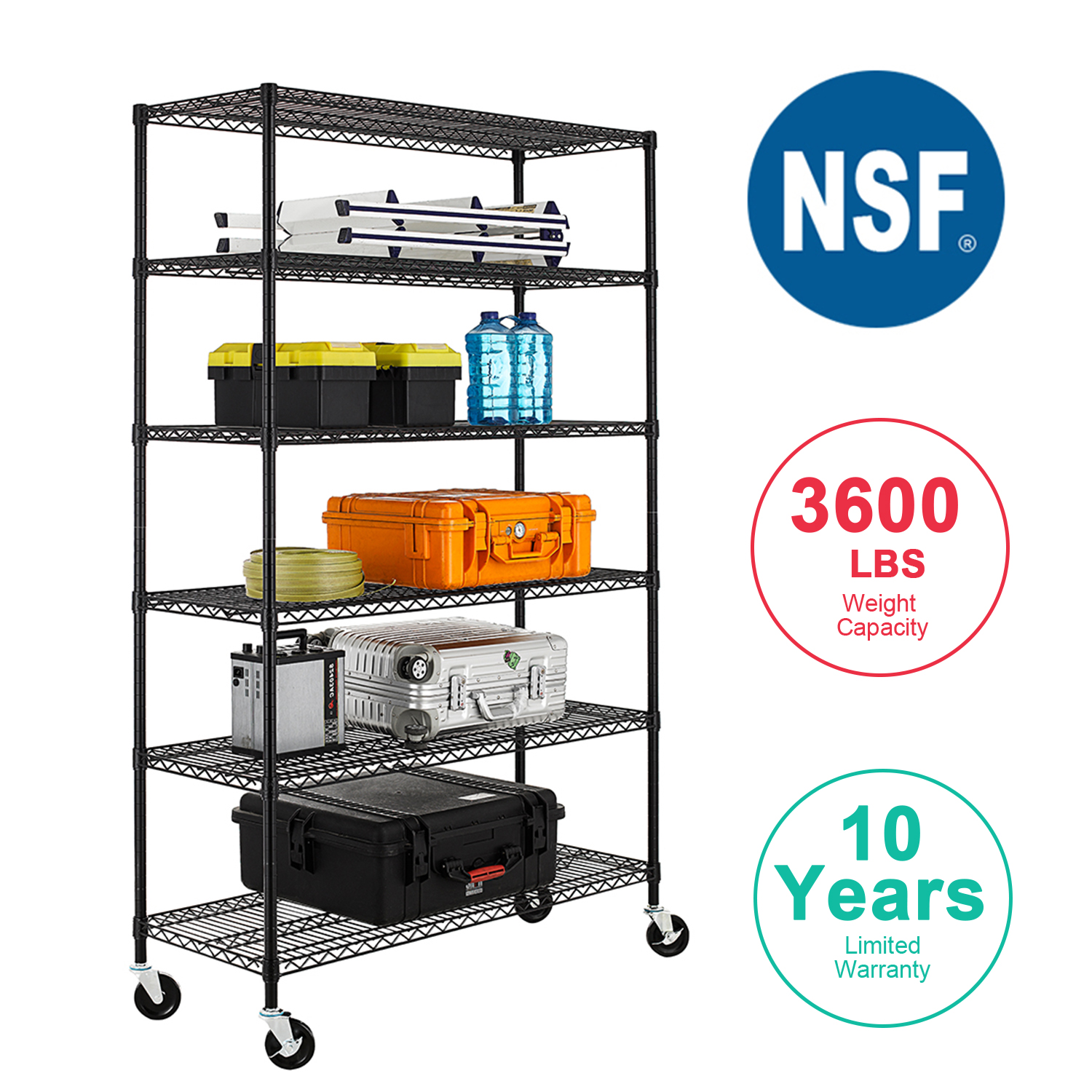 hight resolution of nsf wire shelving unit heavy duty garage storage shelves large black wiring diagram in addition metal ball caster wheel on d ball wiring