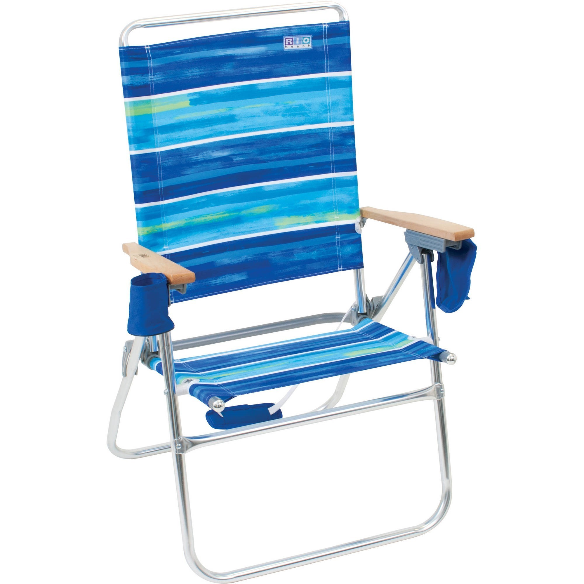 beach chair photo frame casters for chairs on carpet rio hi boy aluminum with 17 inch seat height walmart com
