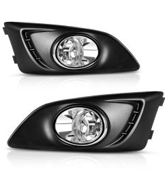 factory style fog lights for chevy sonic 2011 2012 2013 2014 2015 2016 chevy aveo 2012 2013 2014 2015 clear lens with bulbs wiring harness walmart com [ 1100 x 1100 Pixel ]
