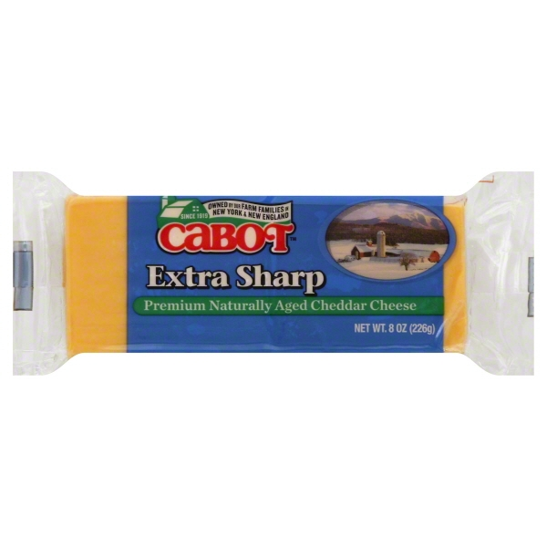 Cabot Vermont Naturally Aged Extra Sharp Cheddar Cheese 8