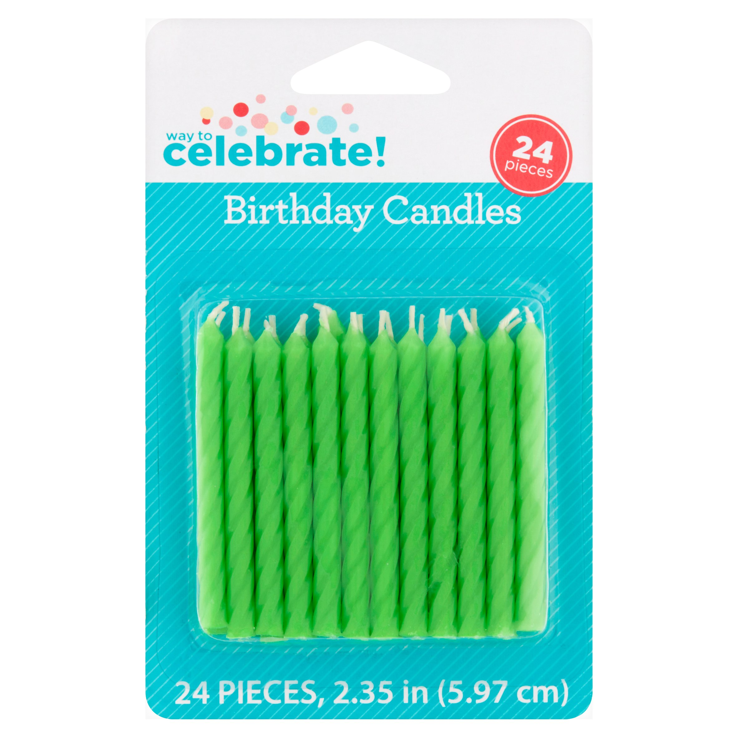 Way to Celebrate Birthday Candles Lime Green Walmartcom