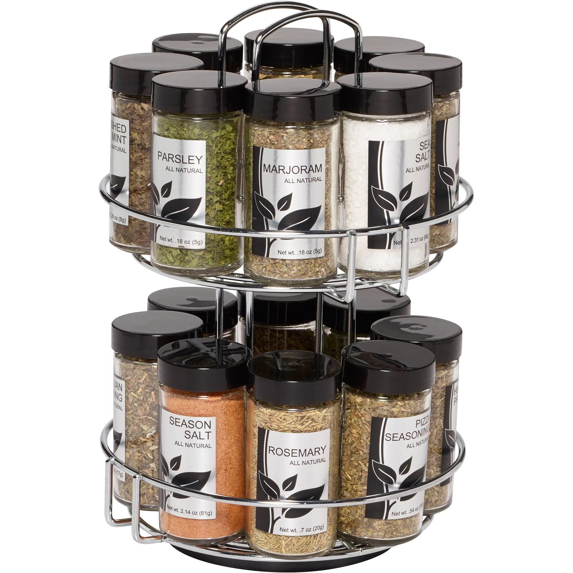 revolving spice racks for kitchen cupboards sale rack jar 16 metal storage with