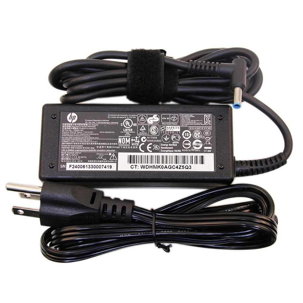 medium resolution of original hp 19 5v 3 34a 65w hp ac adapter hp laptop charger hp power cord for hp 14 15 hp envy 14 15 17 touchsmart pavilion 11 14 15 17