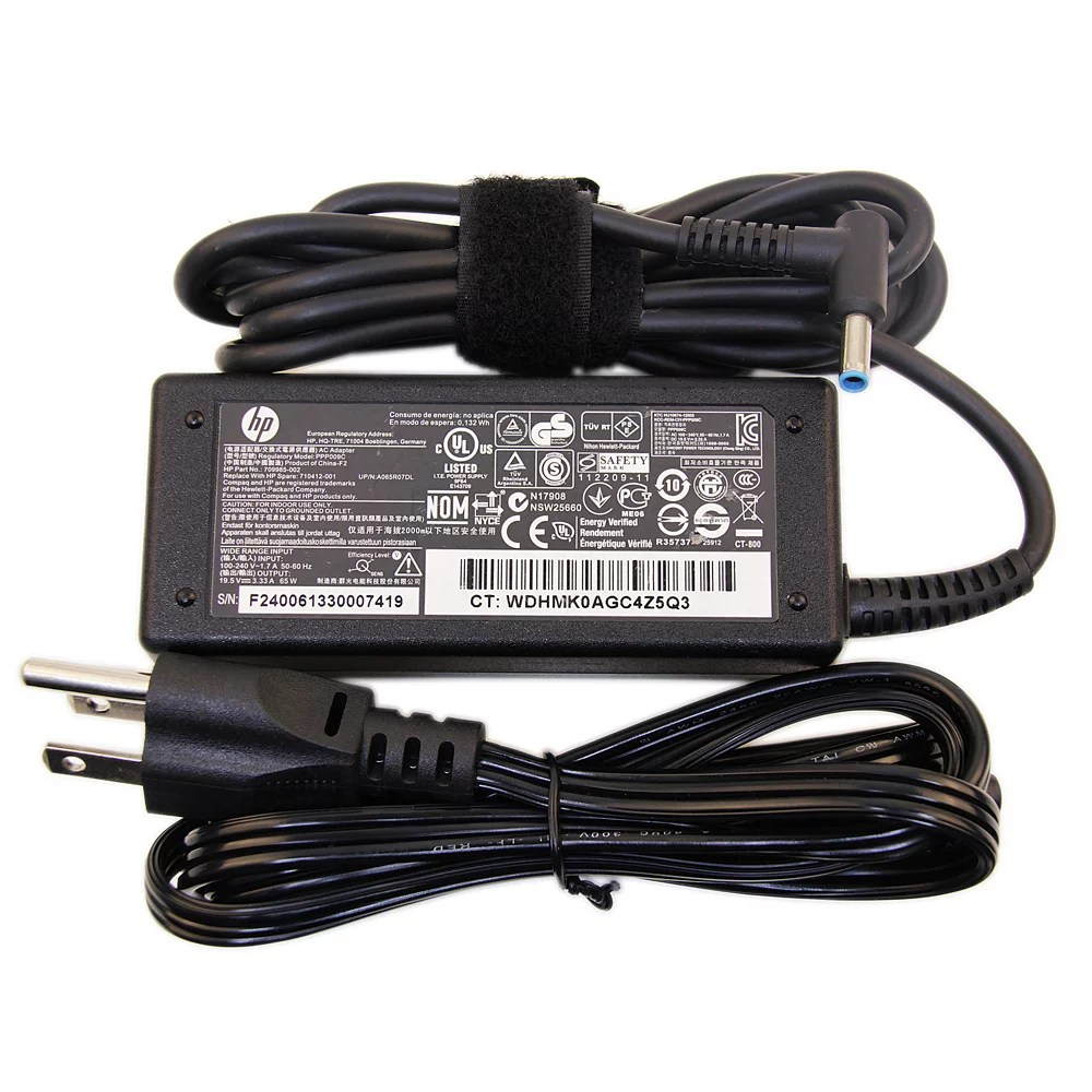 hight resolution of original hp 19 5v 3 34a 65w hp ac adapter hp laptop charger hp power cord for hp 14 15 hp envy 14 15 17 touchsmart pavilion 11 14 15 17